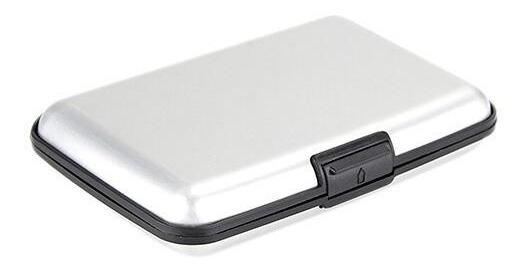 Porta Tarjetas De Crédito Tarjetero Aluminio De Bolsillo
