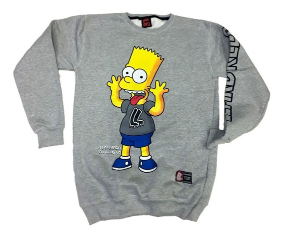 Buzo Simpsons Bart Lengua By Llamarada Killer