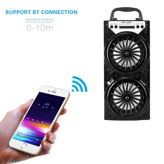 Caixa De Som Portátil Amplificada Bluetooth Usb Radio Fm Aux