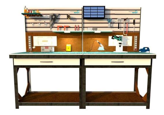 Mesa Maker Con Herramientas Y Herramientas Complementaria (