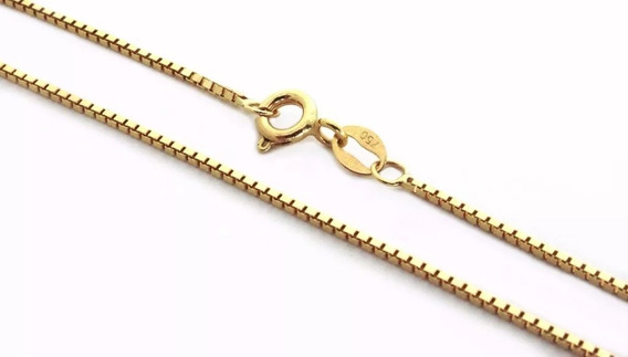 Corrente Ouro 18k Unissex Veneziana 35cm Cv0075