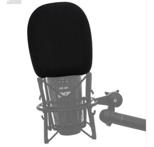 Filtro Paraviento Antipop Micrófono Tamaño Grande Skp Wm2 Sm