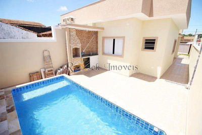 Casa Com Piscina E 2 Dorms, Cibratel Ii, Itanhaém -cod: 355 - V355