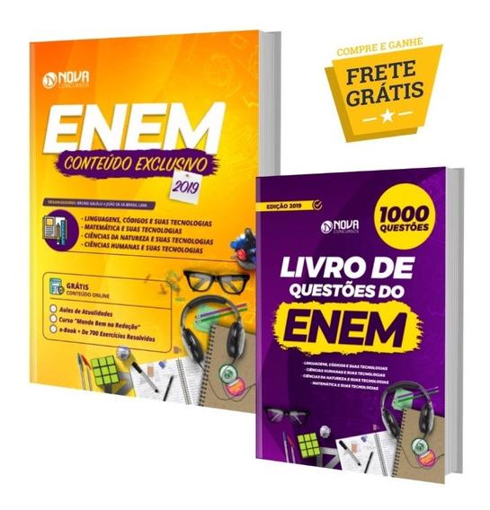 Combo Apostila + Livro 1000 Questões Comentadas Enem 2019