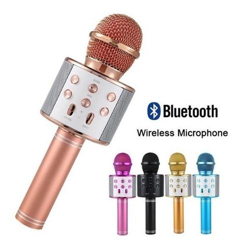 Imagen 1 de 9 de  Micrófono Parlante Bluetooth Karaoke Oferta Hot-sale !!