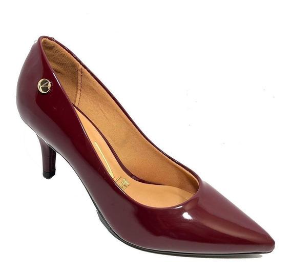 Sapato Scarpin Vizzano Salto Médio Verniz