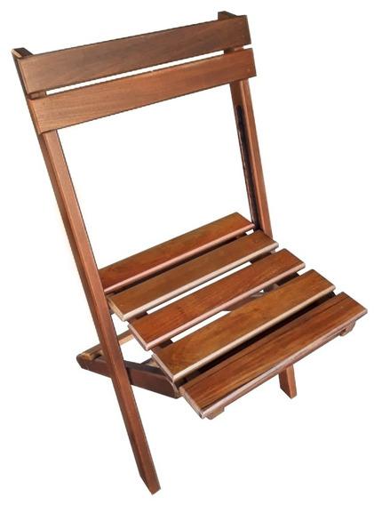 Cadeira Dobrável De Madeira Ipê Modelo Mini 80x46x52cm