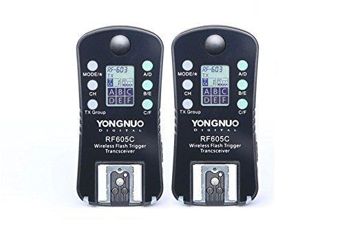 Rádio Flash Yongnuo Rf-605c Rf605 Para Canon Visor Lcd (par)