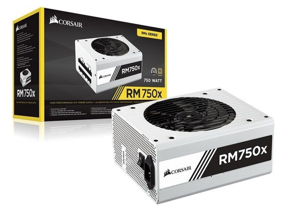 Fonte Corsair Rm750x 750w White 80 Plus Gold Full Modular