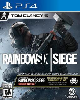 Rainbow Six Siege Juego Fisico Sellado Ps4 - Phone Store