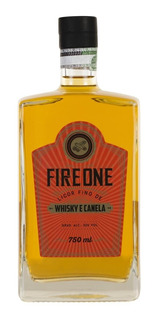 Licor Fino De Whisky E Canela Fire One Garrafa 750ml