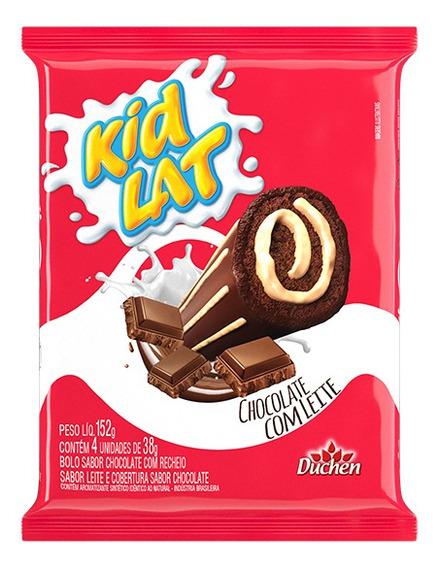 Bolinho Kidlat Recheio Chocolate Leite 10 Pacotes 152g