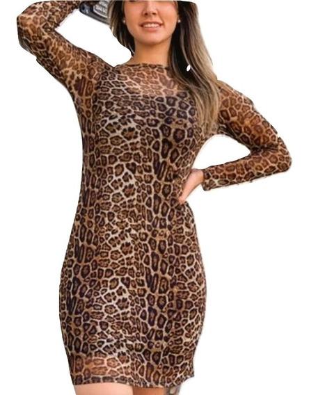 Vestido Midi Tule Oncinha Moda Feminina Blogueira 2019