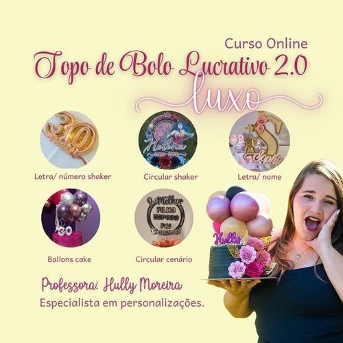 Topo De Bolo Lucrativo Luxo 2.0
