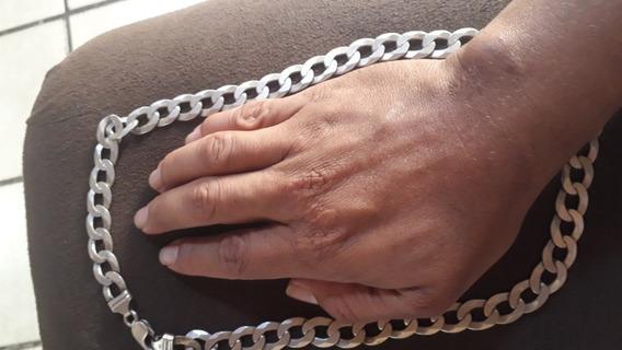 Cordão Grumet Prata Italiana 925 Peso=91,2g Tam=63cm Maciça