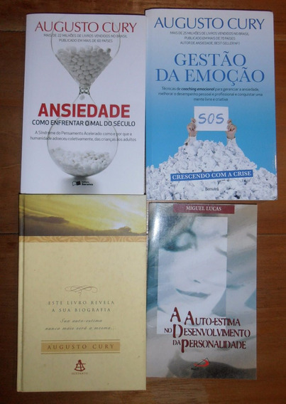 Kit De 4 Livros Augusto Cury E Miguel Lucas