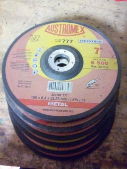Paquete 10 Discos De Corte Y Desbaste Austremex 7 Pulgadas
