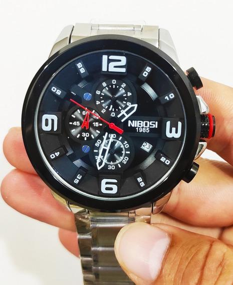 Relógio Nibosi Blindado 2336 Aço Inox