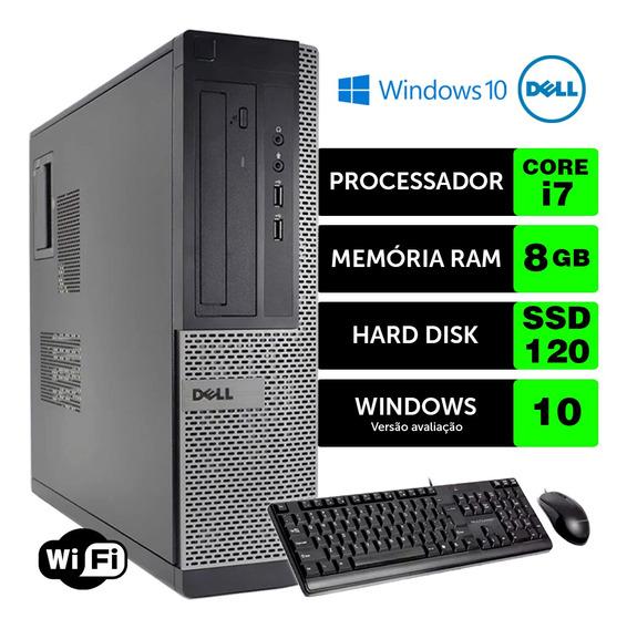 Computador Usado Dell Optiplex Int I7 2g 8gb Ssd120 Brinde