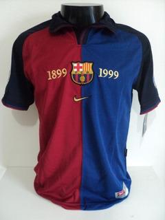 Camisa Barcelona Home 99-00 Guardiola 4 Patch Champions Imp