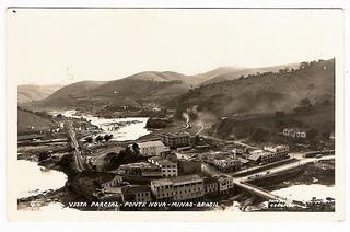 Cartao Postal Fotografico Ponte Nova ( Mg ) - Anos 40
