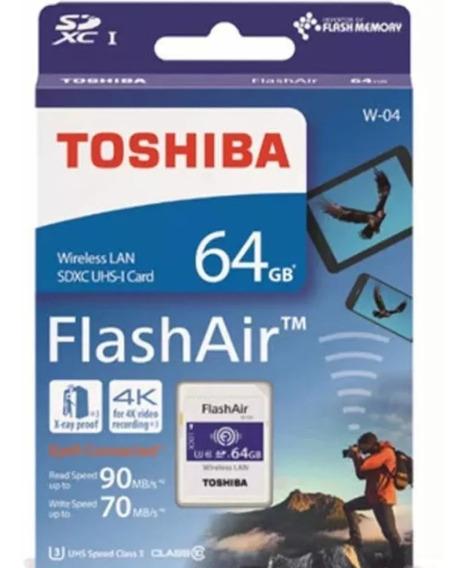 Cartão Memória Sd Wifi Toshiba Flashair 64gb Lacrado Camera Profissional Samsung Canon Nikon Vivitar T6 T7 T7i