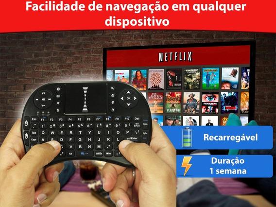 Kit 2 Mini Teclado Pc Xbox 360 Ps3 Smartphones J5 Smart Led