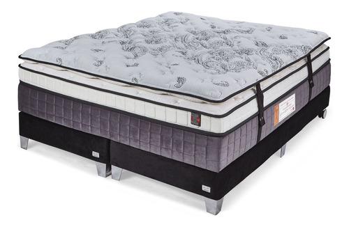 Sommier King Resorte Pocket Ortopedico Doble Pillow Latex