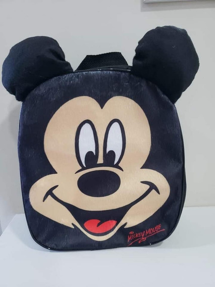 Mochila De Pelucia 3d Passeio Infantil Mickey Mouse
