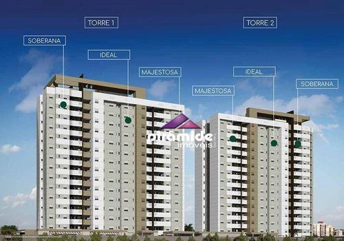Apartamento Com 3 Dormitórios À Venda, 70 M² Por R$ 383.487,67 - Parque Industrial - São José Dos Campos/sp - Ap12383