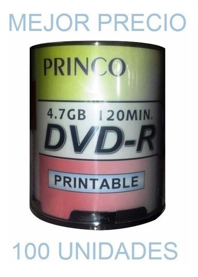 Dvd Virgen Printeable Princo Dvd-r 4.7 Gb 120 Min