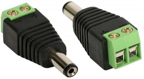 Imagem 1 de 1 de Kit 100 Conectores P4 Macho Com  2 Bornes Para Câmera