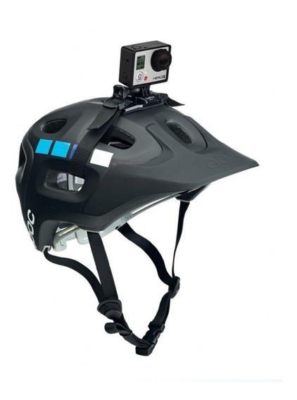 Faixa Capacete Ventilado + Suporte Bike Moto Câmera Celular