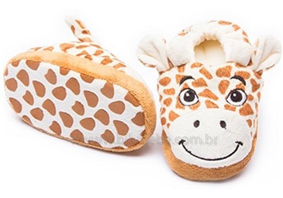 06.1288 - Pantufa Girafa Para Bebês - Tamanhos Na Descrição