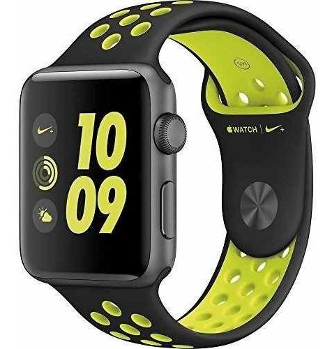 Apple Watch Nike+ Reloj Inteligente De Aluminio Gris De 42 M
