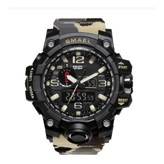 Relógio Militar Shock Smael Camulflado Areia + Brinde