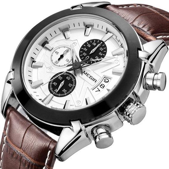Reloj Casual Moderno Caballero Megir Envío Gratis