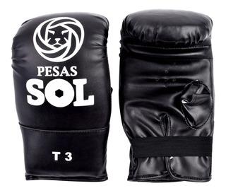 Guantin Para Box Cuero Sintético Sol Fitness Boxeo