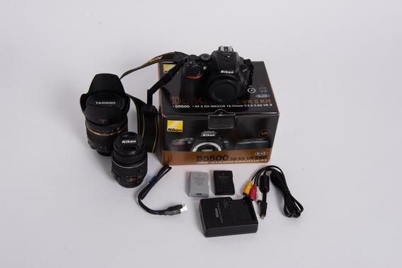 Nikon D5500 Na Caixa + Lente 17-50 2.8 Vc Tamron + Bateria
