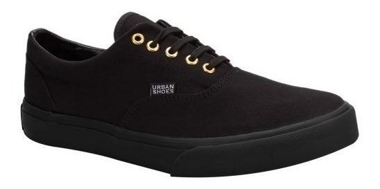 Tenis Casual Urban Shoes 2355 Id 150599 Negro Hombre