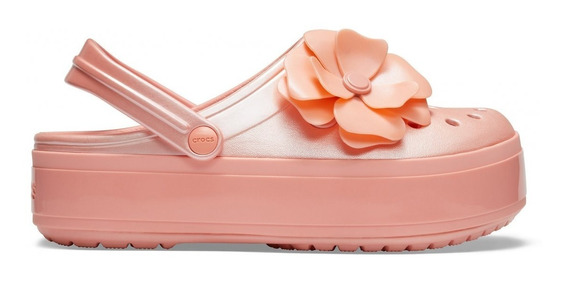Crocs Plataforma Importa Edición Limitada Flor Rosa Original