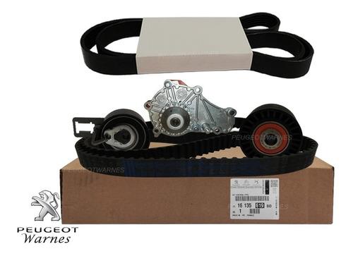 Kit Distribucion + Bomba Orig + Poly V Peugeot 408 1.6 Hdi
