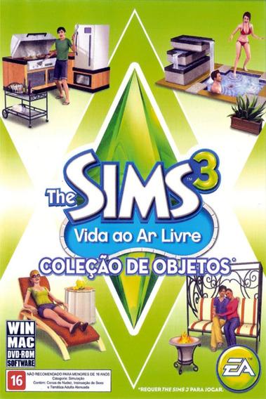 Pc The Sims 3 Vida Ao Ar Livre Coleção De Objetos Lacrado