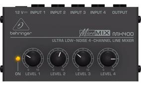 Mixer Compacto Behringer Micromix Mx400 4 Canais Low Noise