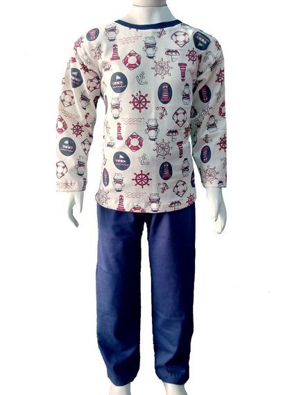 Pijama Infantil Tamanhos 8/10/12 Múltiplas Estampas Menino