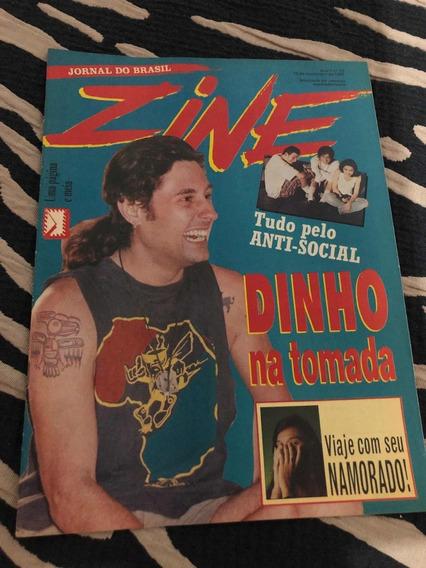 Revista Zine Jornal Do Brasil Dinho Ouro Preto Guns Rose Bon