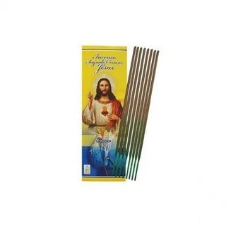 50 Caixas C/8 Incenso Vareta Sagrado Coração De Jesus Oração