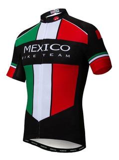 Jersey Team Mexico Negra Bici, Ruta, Mtb, Ciclismo Deporte