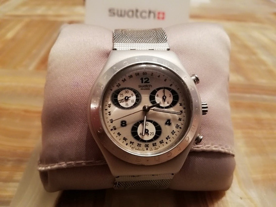 Reloj Swatch Para Dama Cronos De Acero