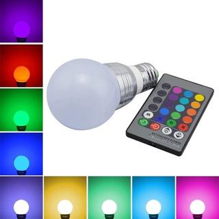 Foco 16 Colores Con Control Remoto Luz Led Decorativo Nuevo